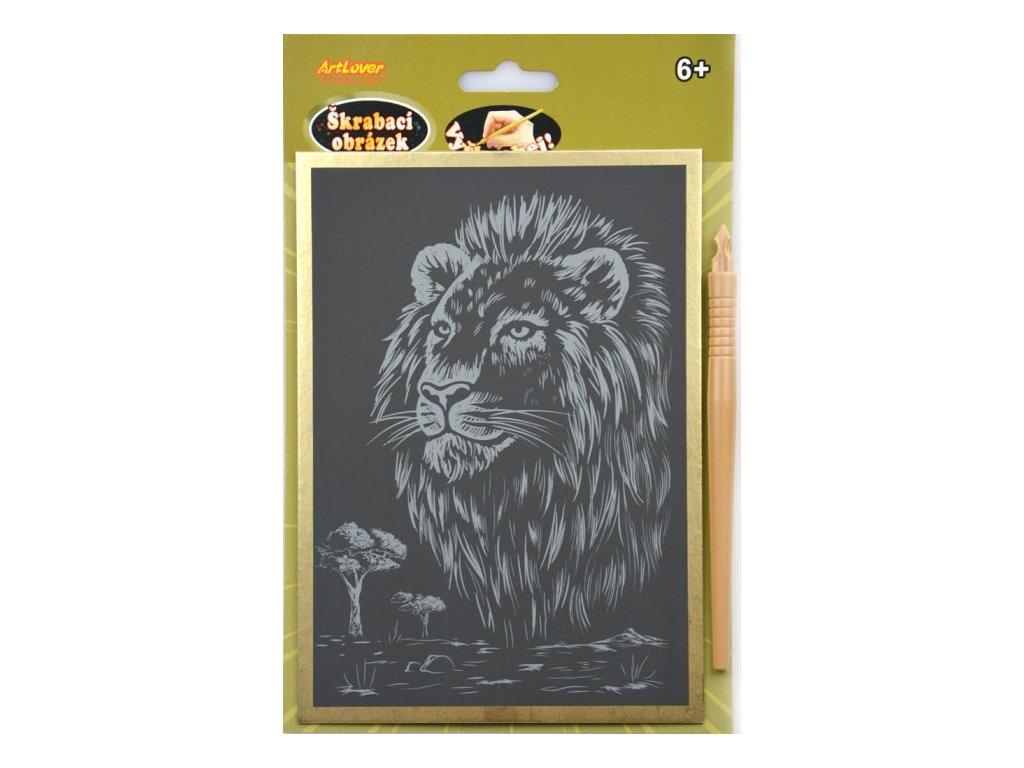 škrabací lev