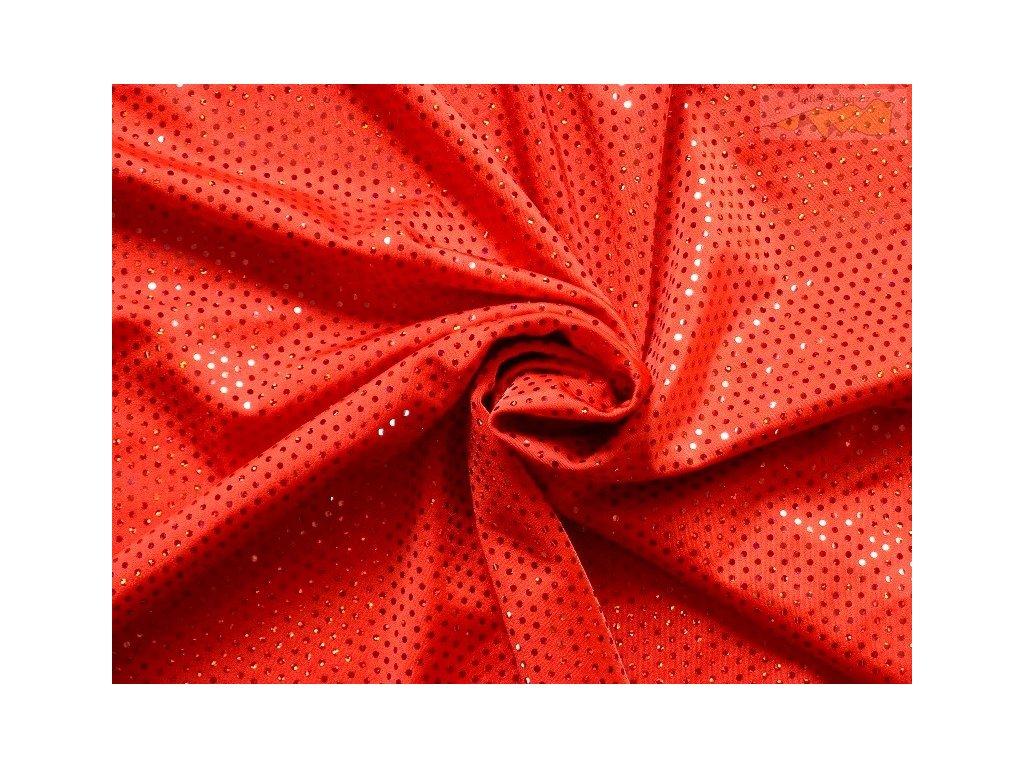 9658 červená flitry
