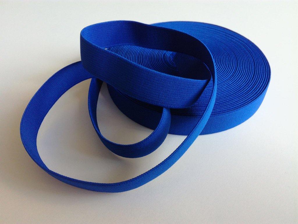 Tkaná pruženka 21mm tm.modrá tažnost 110% 83pes 17 elastan 14 Kč