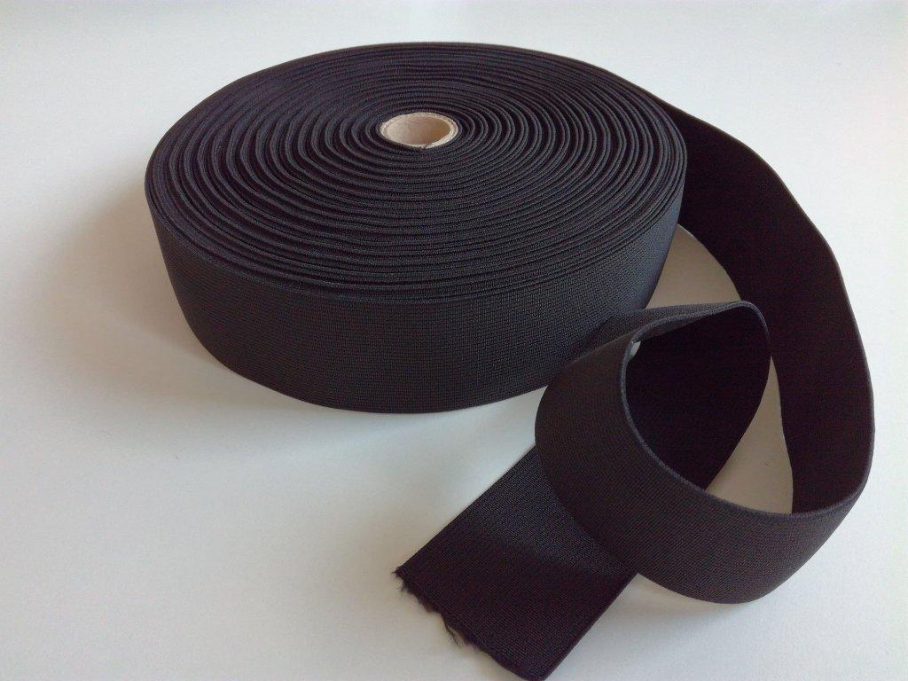 Tkaná pruženka 50mm černá tažnost 110% 85pes 15 elastan 15 Kč