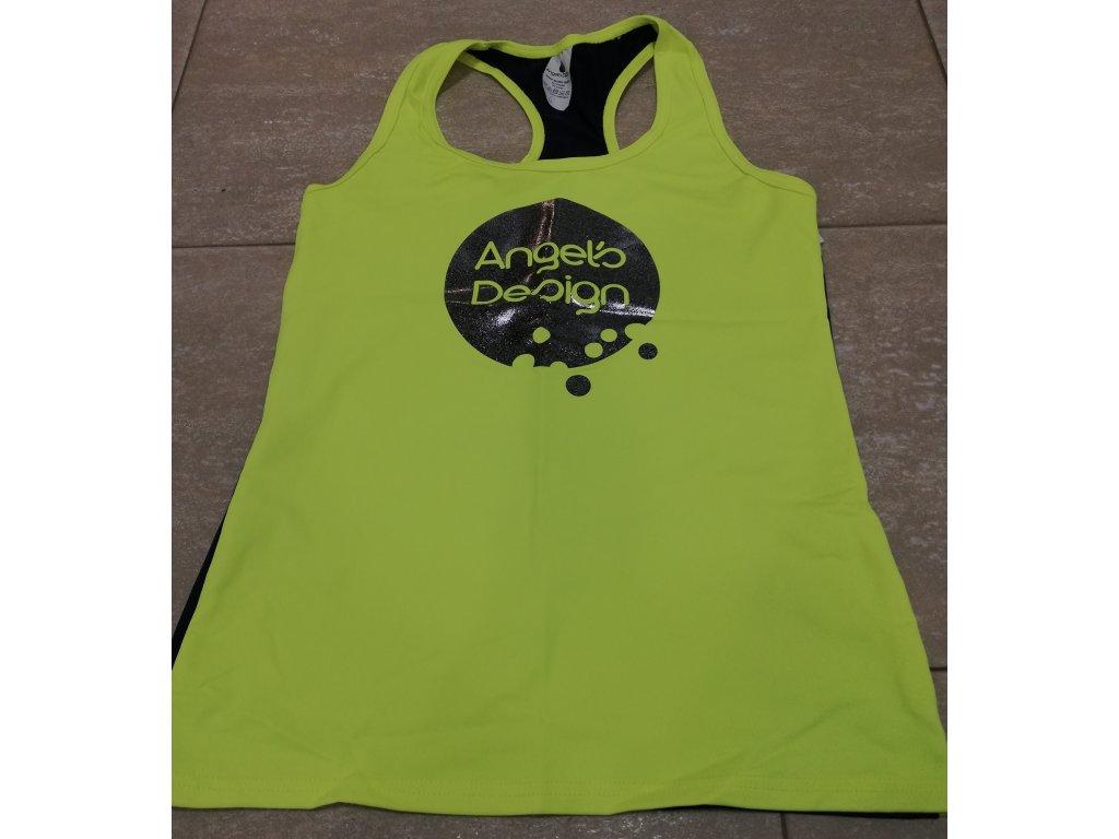 Tílko boxer dámské žluté/tmavě modré