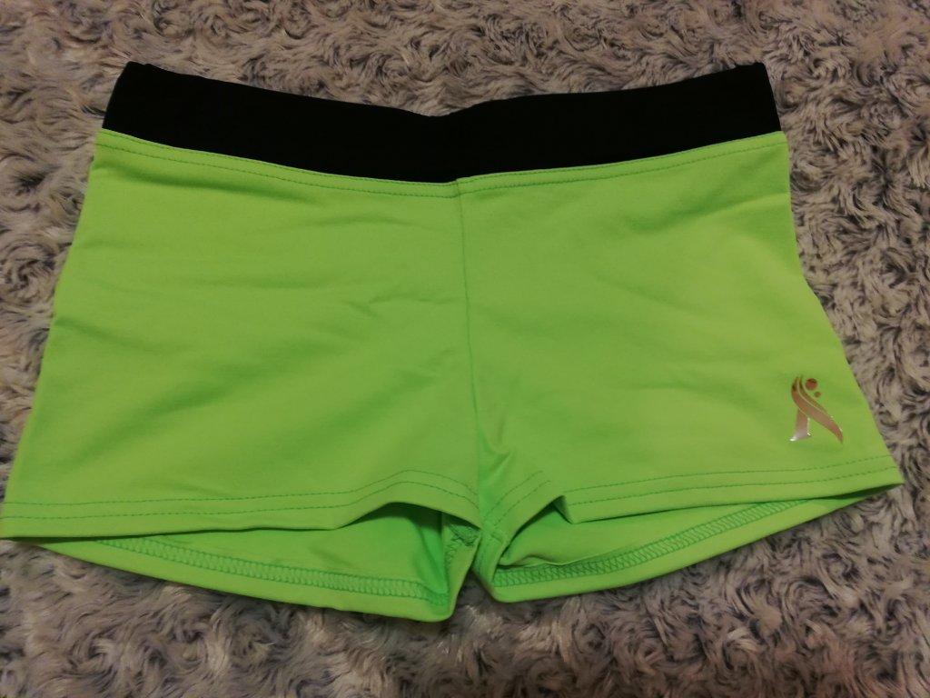 Sportovní kraťásky zelená/černá