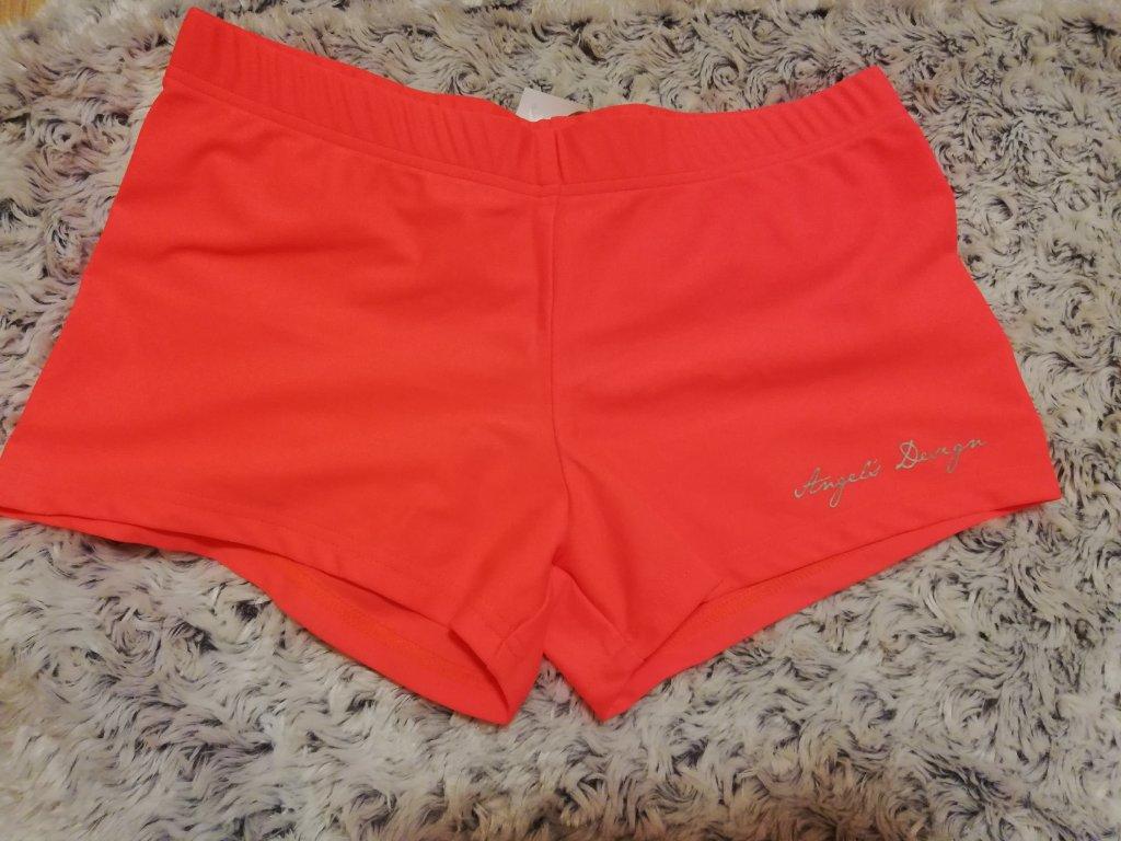 Sportovní kraťásky oranžové