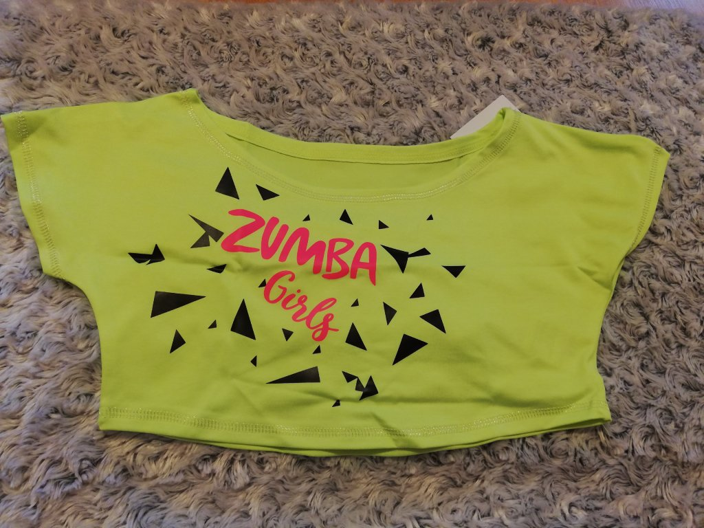 Crop-top SPORTY žlutý, ZUMBA