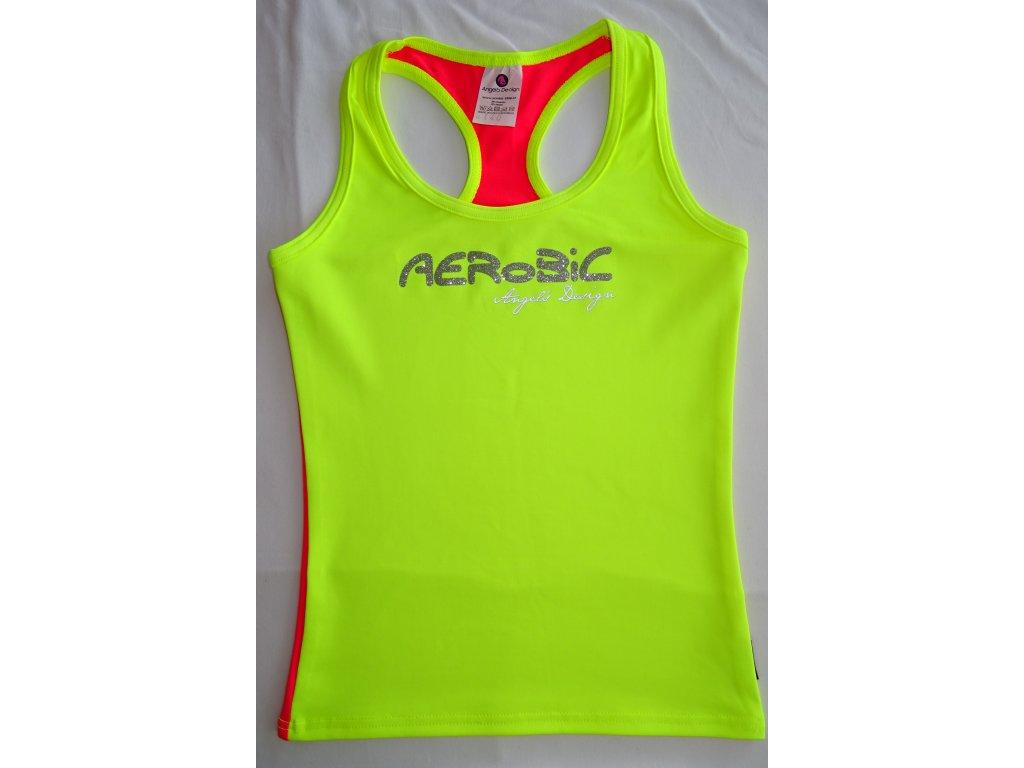 Tílko boxer dámské žlutá/neon červená