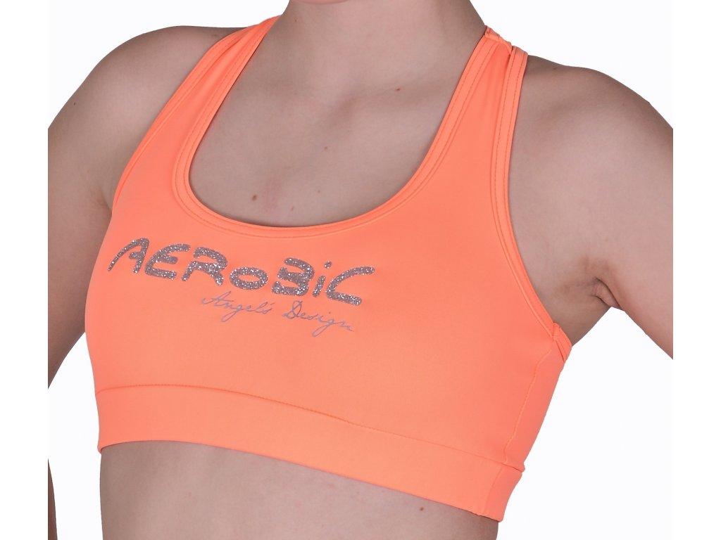 Top boxer oranžový, stříbrný AEROBIC