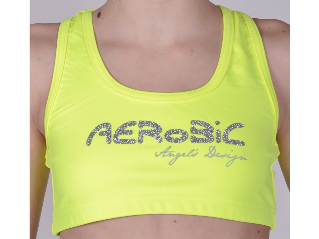 Top boxer žlutý, stříbrný AEROBIC