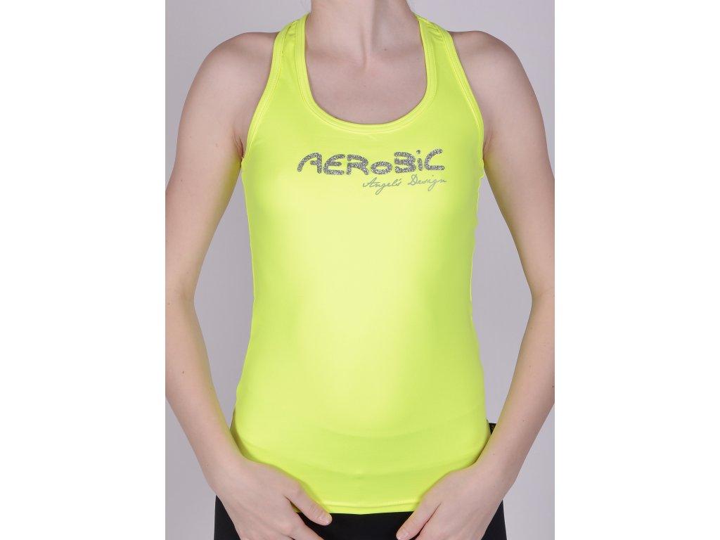 Tílko boxer žluté, stříbrný AEROBIC