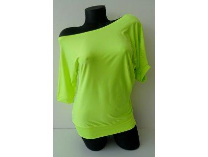 Taneční triko SPORTY neon žluté
