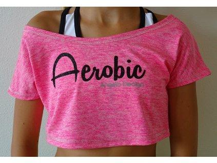 Crop-top AEROBIC SPORTY růžový