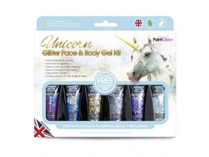 Paintglow Glitter Unicorn Body Paint Kit