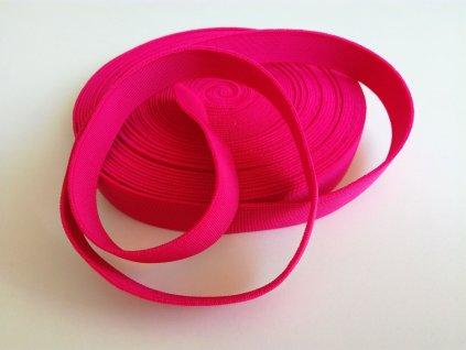 Tkaná pruženka 21mm malinová tažnost 110% 83pes 17 elastan 14 Kč