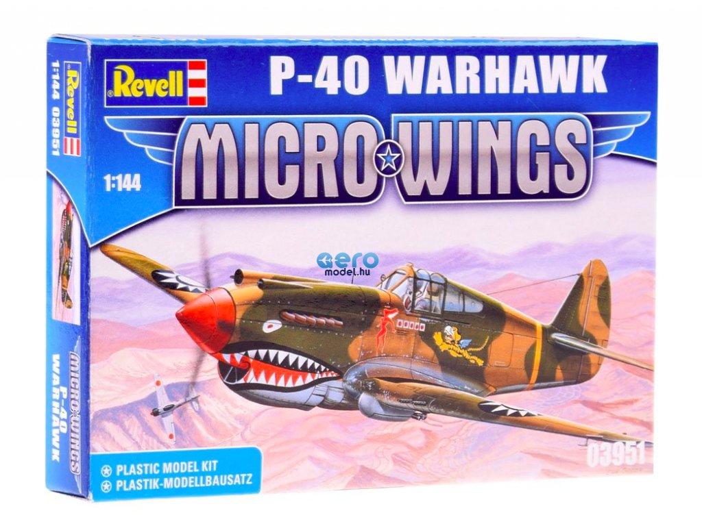 Revell Micro Wings Model P-40 Warhawk 1:144 RV0019 építőkészlet