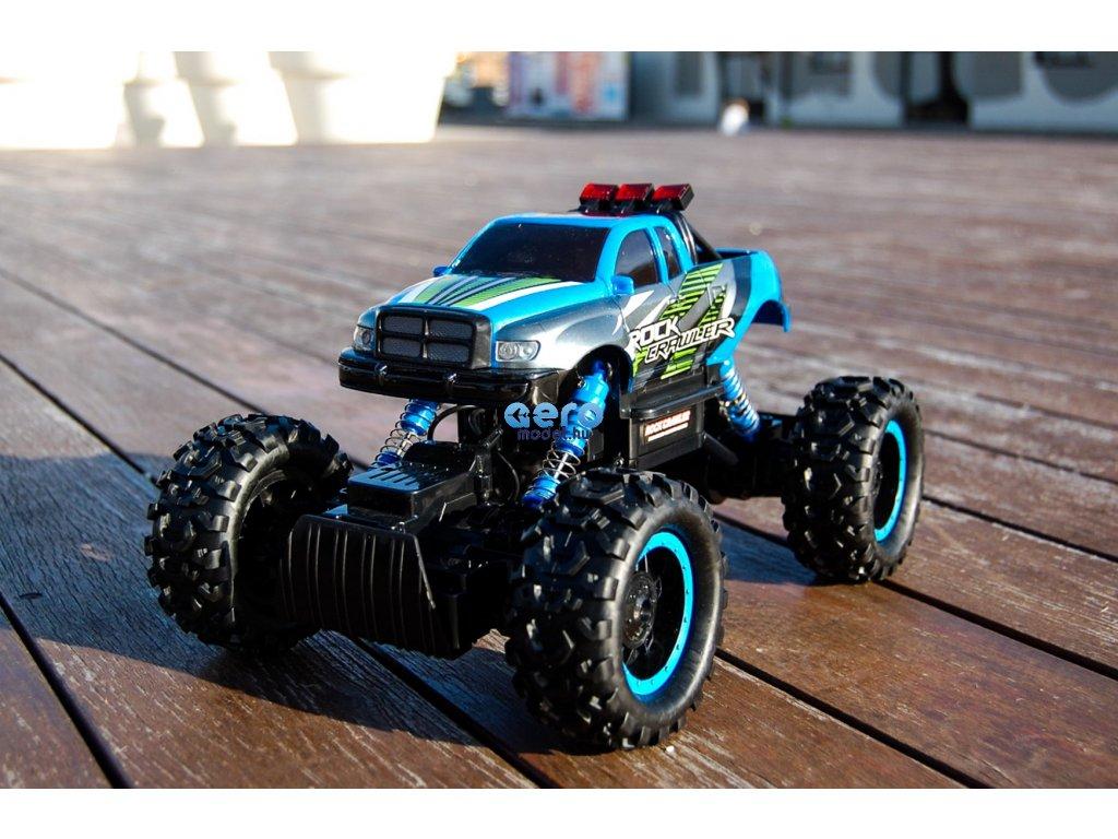 RC autó Monster Truck Maisto Rock Crawler minden akadályt legyőz, 1:14