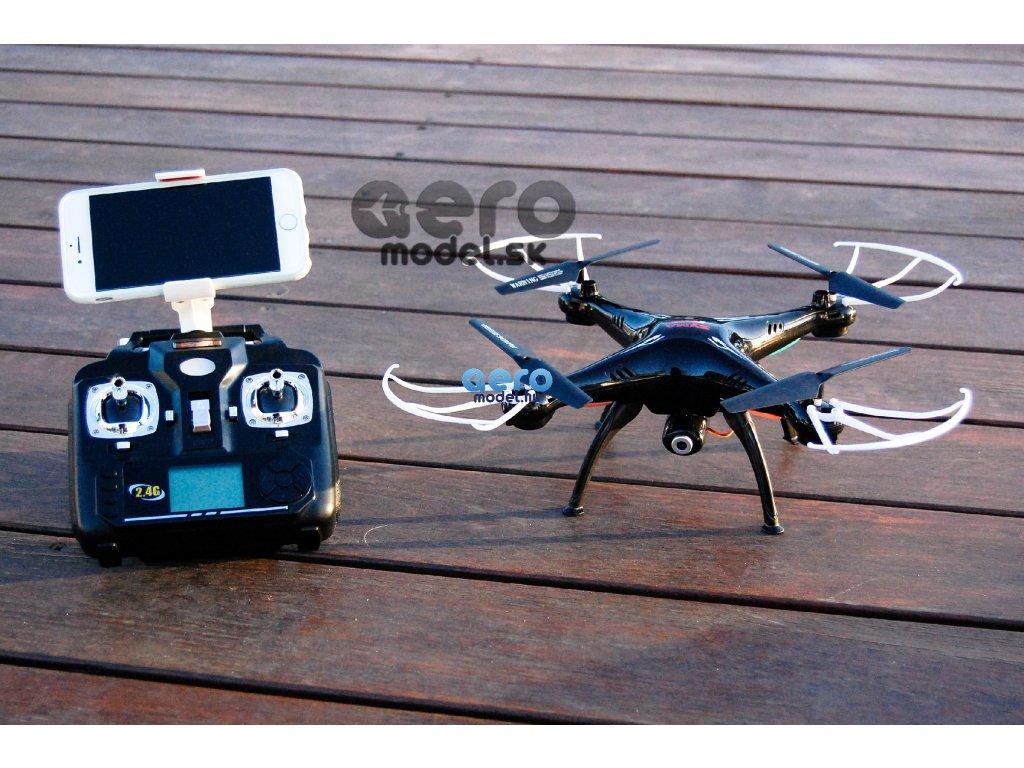 RC quadrokopter Syma X5SW  (FPV, 0.3MP kamera) , fekete