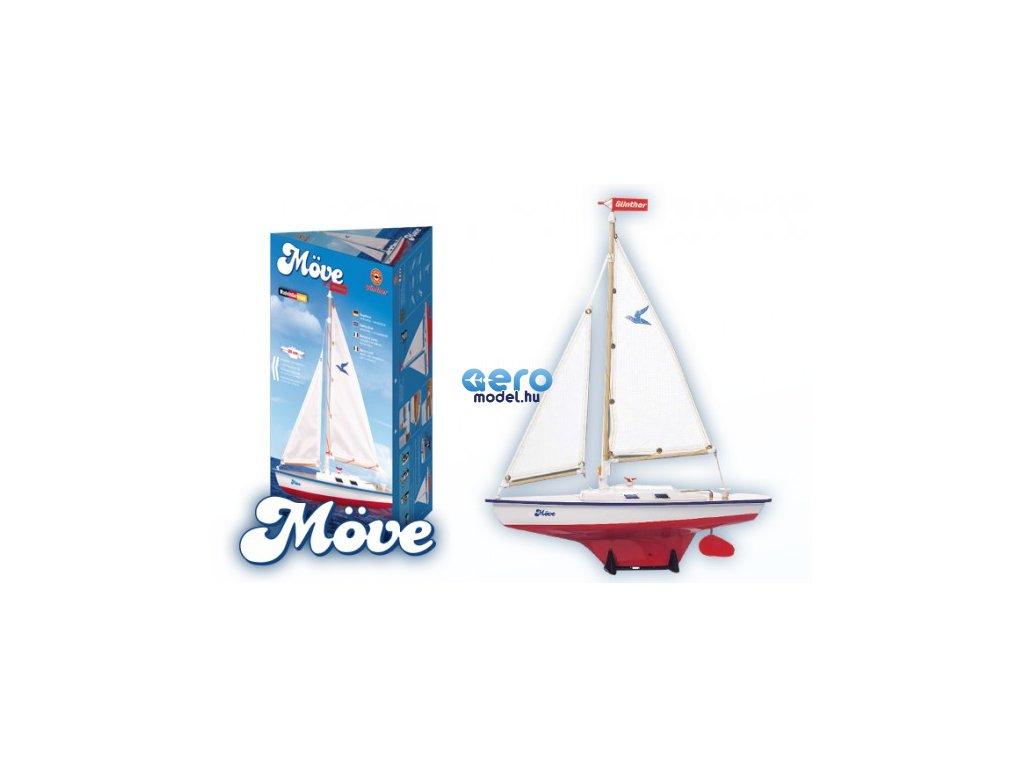 model plachetnice pro deti move 39 x 50 cm drevo