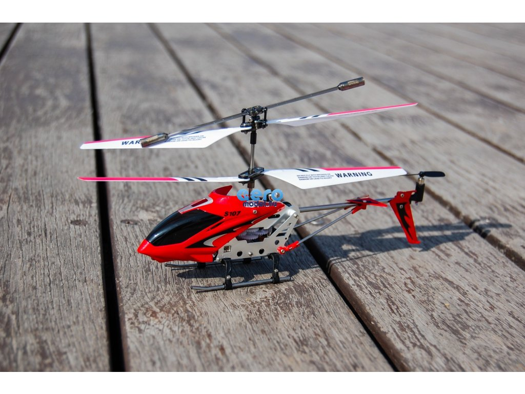 Syma s107 RC helikopter, piros