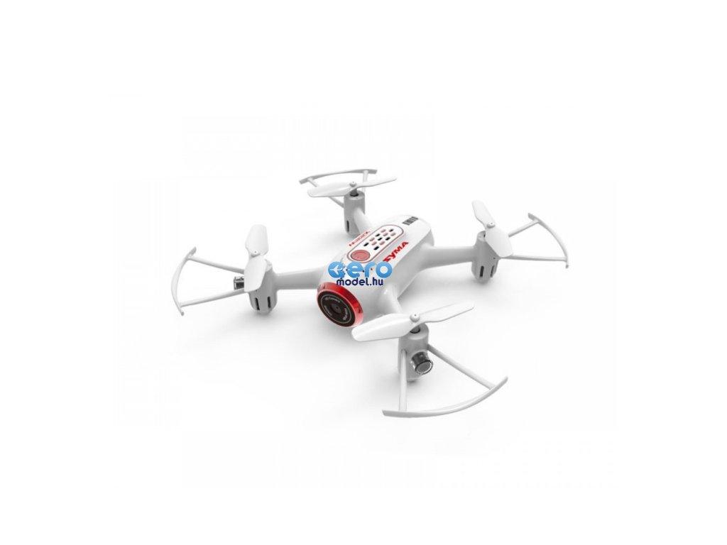 Syma: Syma X22SW (D350WH, FPV WiFi kamera, 2,4 GHz, gyroszkóp, auto start, lebegés, táv 25 m, 17,6 cm) - piros