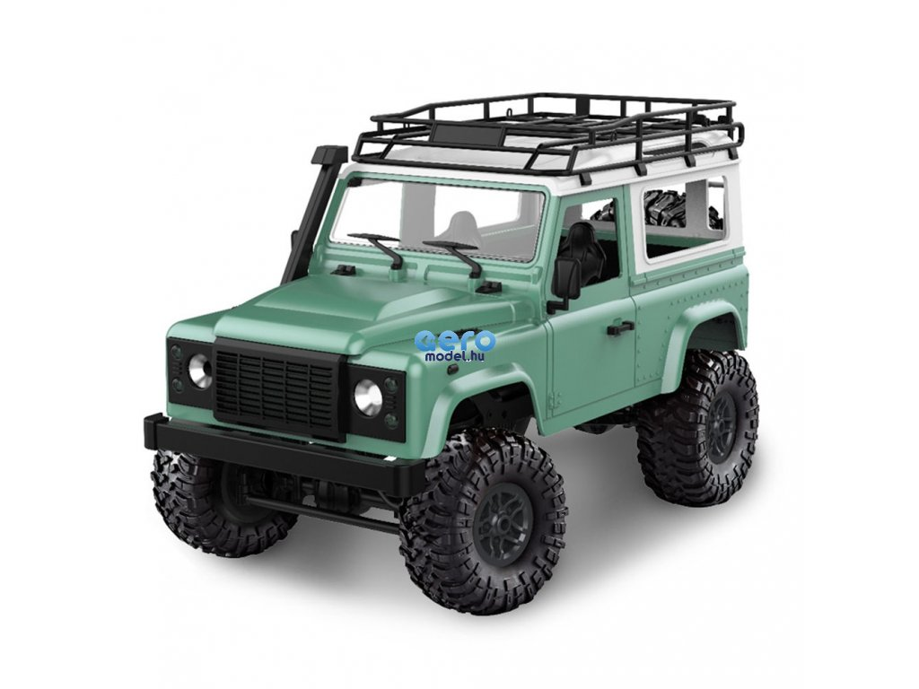RC auto D90 Rock Crawler Defender 1:12, 4WD, 2,4 GHz, LED, 100% RTR, zöld