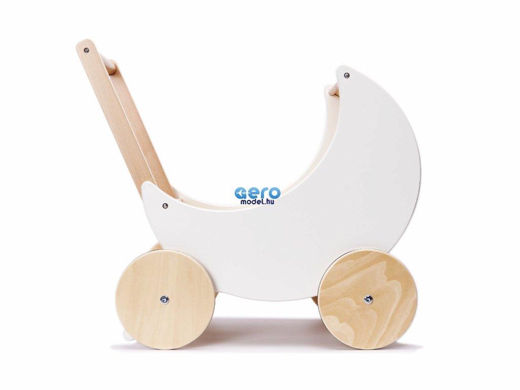 Fa játék - tolható babakocsi