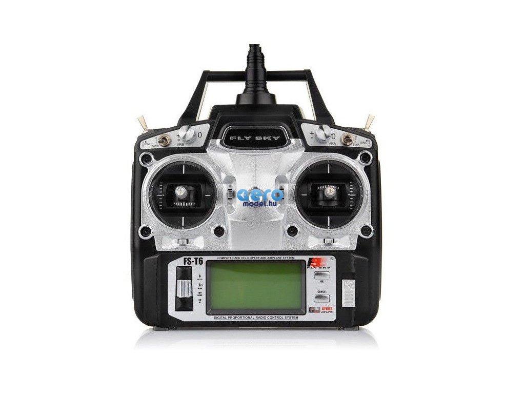 FlySky FS-T6 6CH 2,4 GHz + R6B vevő
