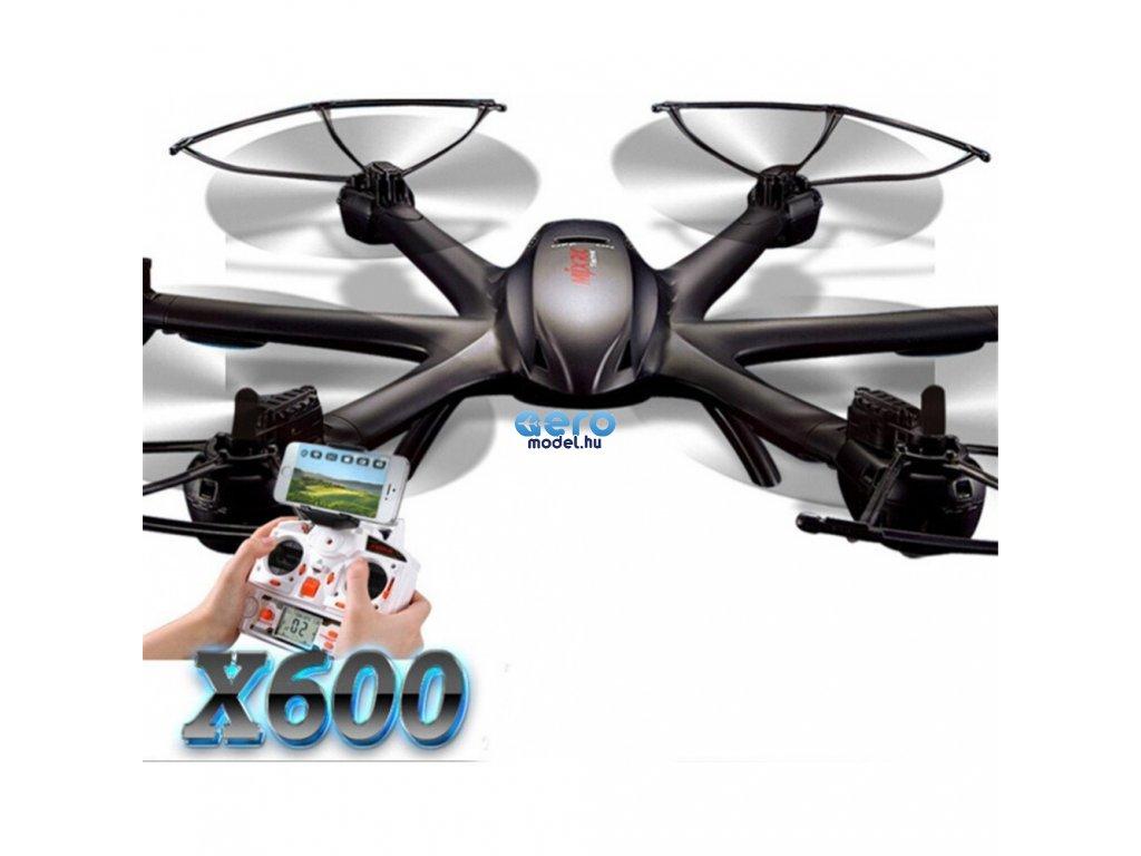 Hexacopter MJX X600, 2,4 Ghz fényképezőgép megvásárlási lehetőséggel, RTF készlet