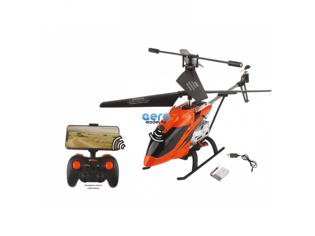 DF-100 FPV helikopter, kamera, WiFi képátvitel, AUTO indítás / leszállás, LED, fém futómű