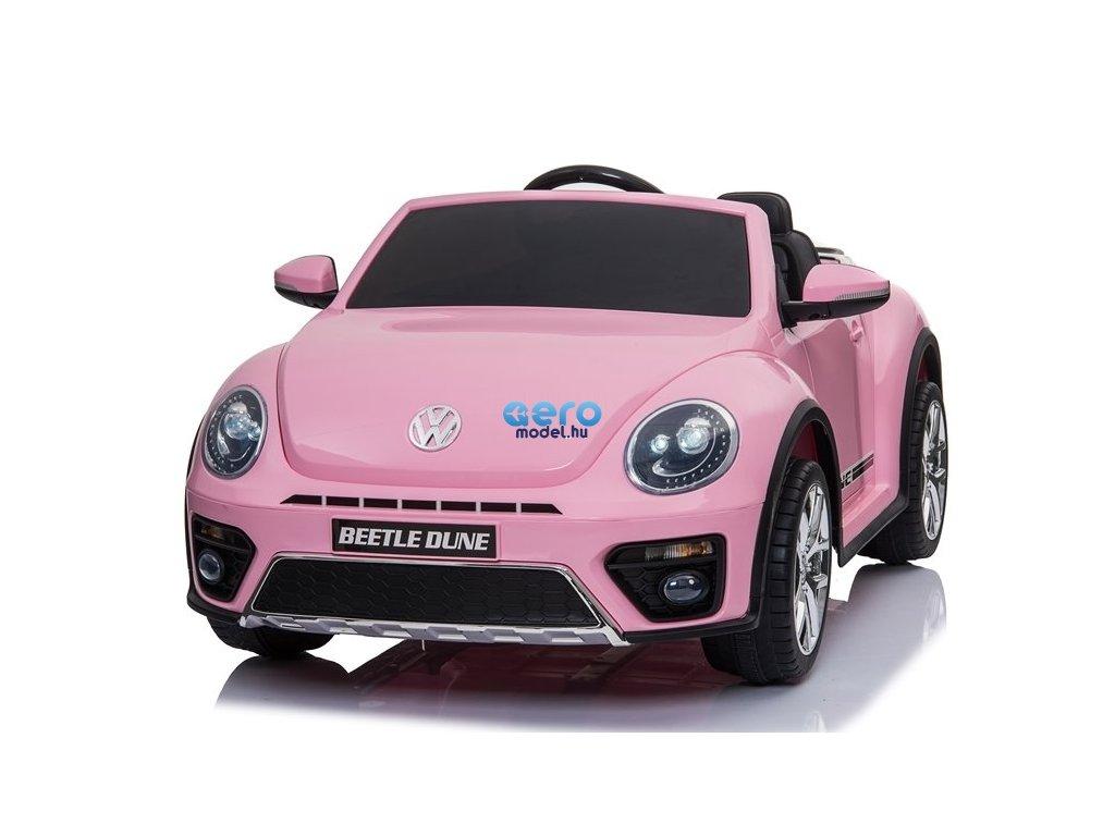 Elektromos autó Beetle - rózsaszín