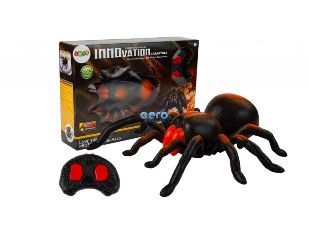 Hatalmas távirányítós pók - fekete-narancs - csomag tartalma