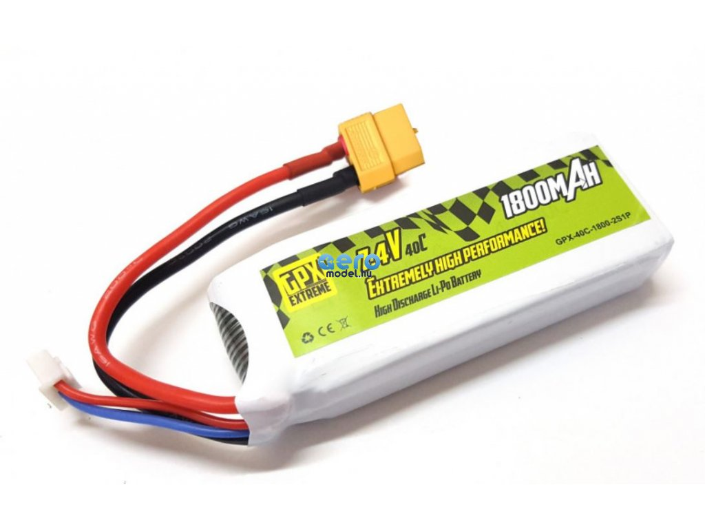 LiPo GPX Extreme 1800mAh 7.4V 2S1P akkumulátor