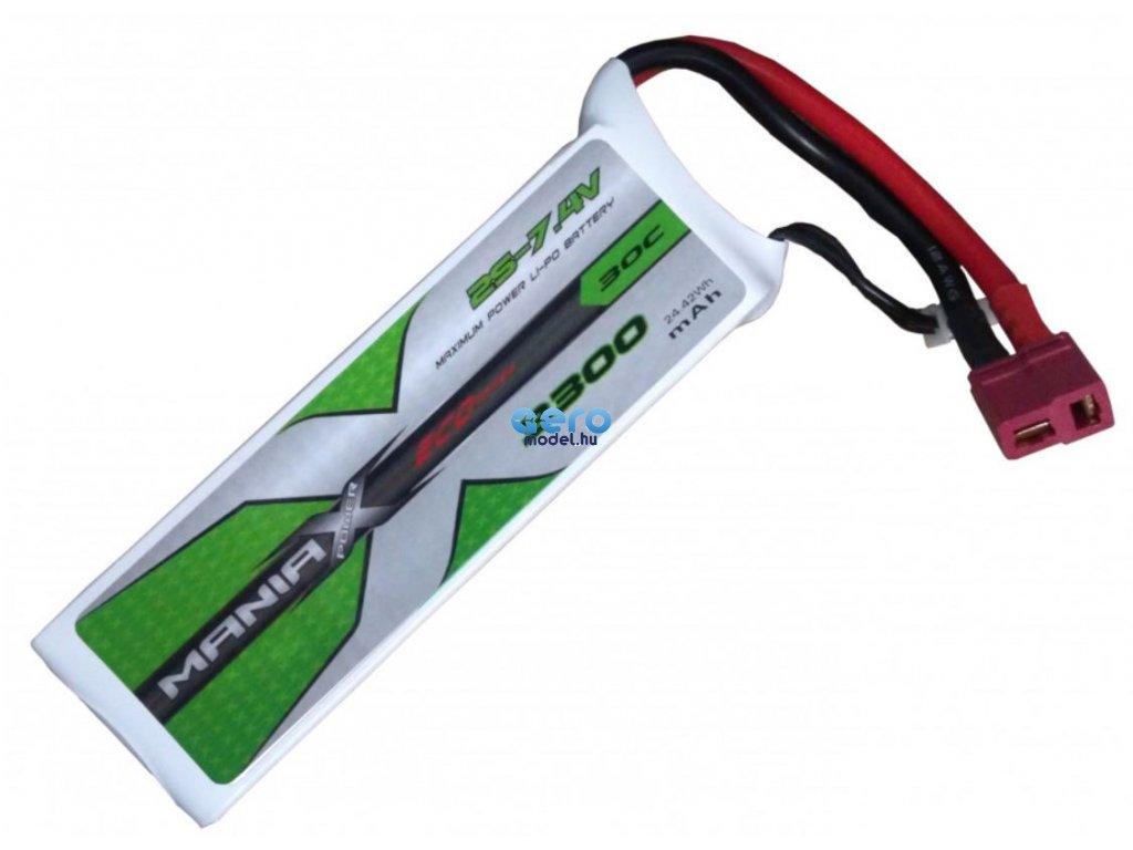 LiPo 3300mAh 7,4 V-os ManiaX akkumulátor
