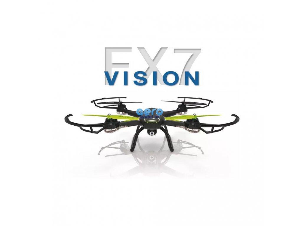 sky drone fx7 wifi fpv kompas akce