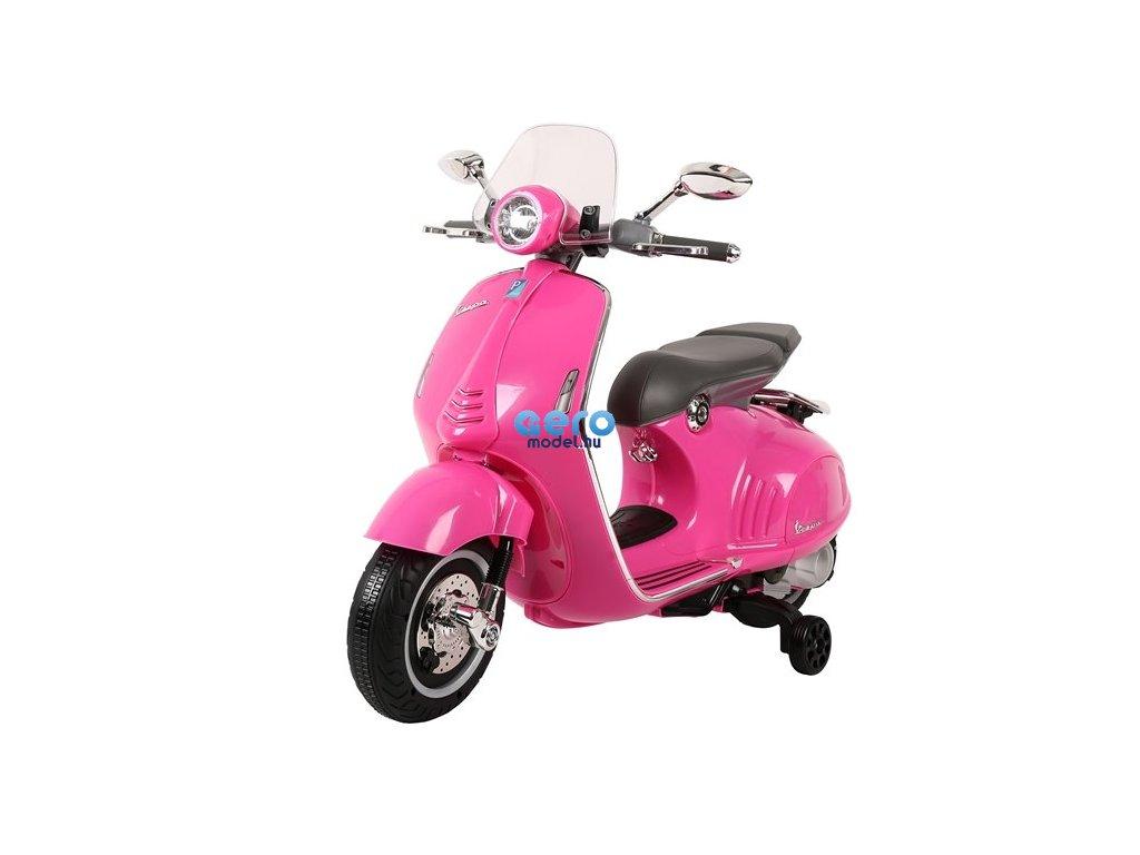 Gyermek robogó Vespa GTS 300 rózsaszín