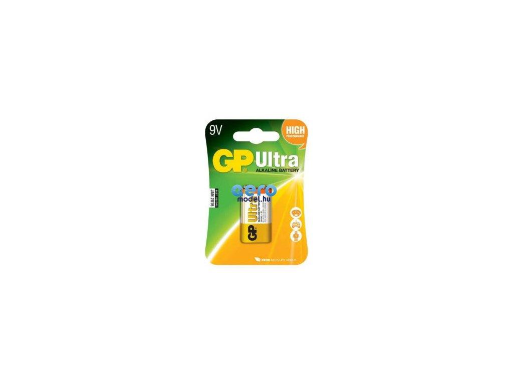 Alkáli akkumulátor GP Ultra 9V