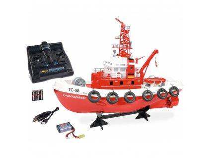 Tűzoltó hajó Vízágyú távvezérelt kilövése