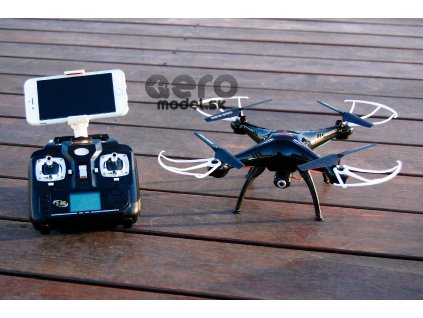 RC quadrokopter Syma X5SW  (FPV, 0.3MP kamera) , fekete