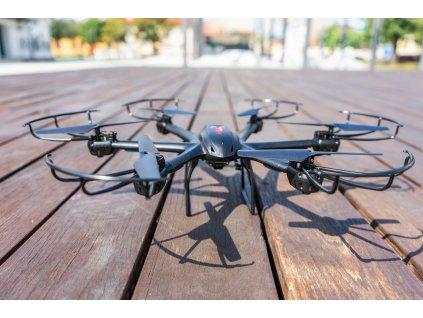 RC dron MJX X601H HEXA, PROGRAMOVATEĽNÝ LET, BAROMETER, FPV, KAMERA C4005 ČIERNA (Farba Čierna)