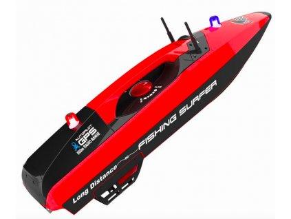 Joysway: Fishing Surfer GPS 2,4 GHz-es RTR csónak - piros