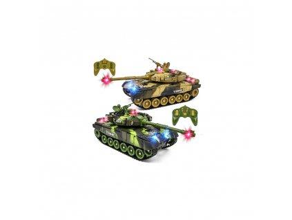 war tank ir sada 2 velkych bojujicich infra tanku led zvuky otocna vez 100 rtr