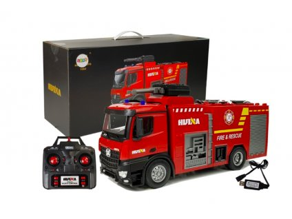 HUINA tűzoltóautó távirányítóval 1:14 2,4 GHz