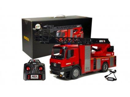 HUINA tűzoltóautó 1:14 létrával és fecskendővel, arányos, hangok, RTR