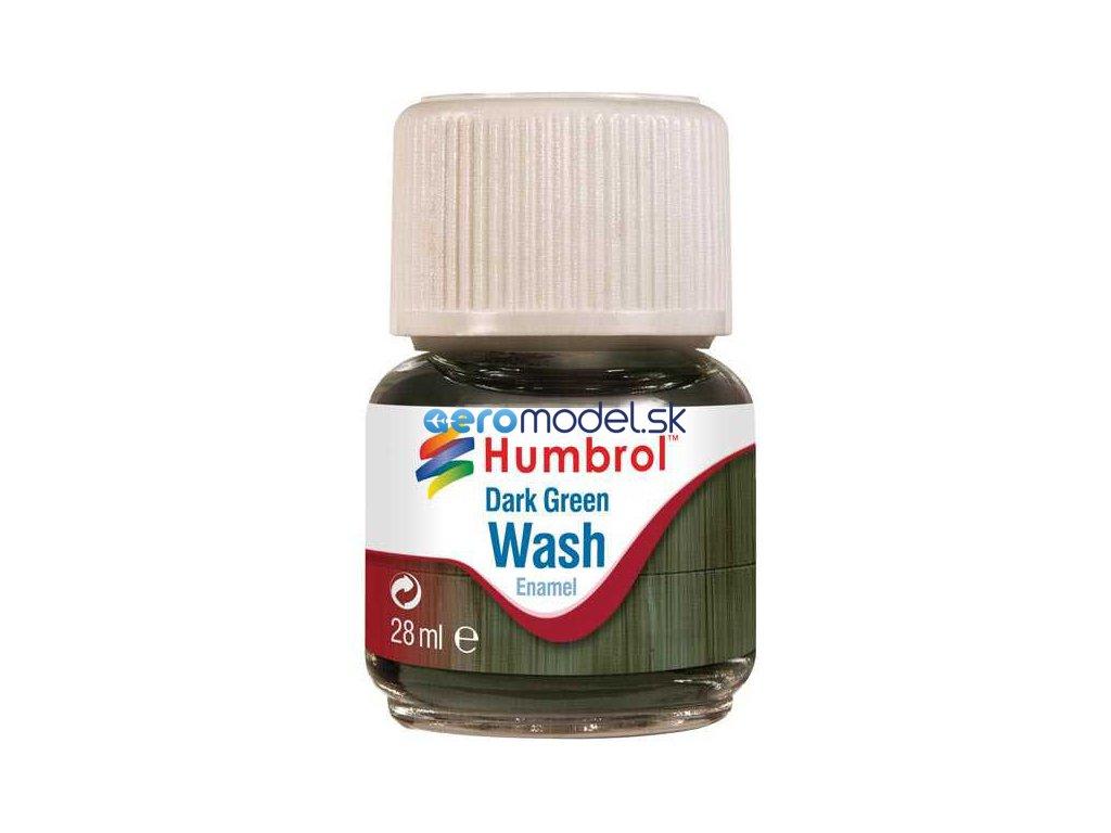 Humbrol barva Enamel AV0203 Wash tmavě zelená 28ml AF-AV0203