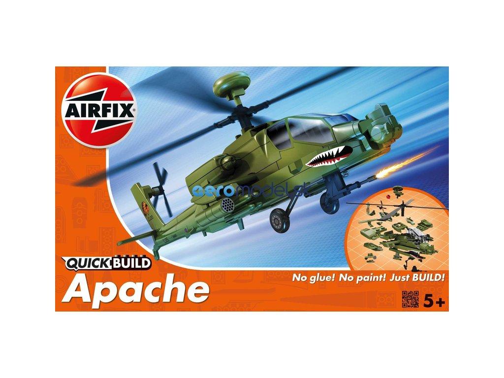 Airfix Quick Build vrtulník Boeing Apache AF-J6004