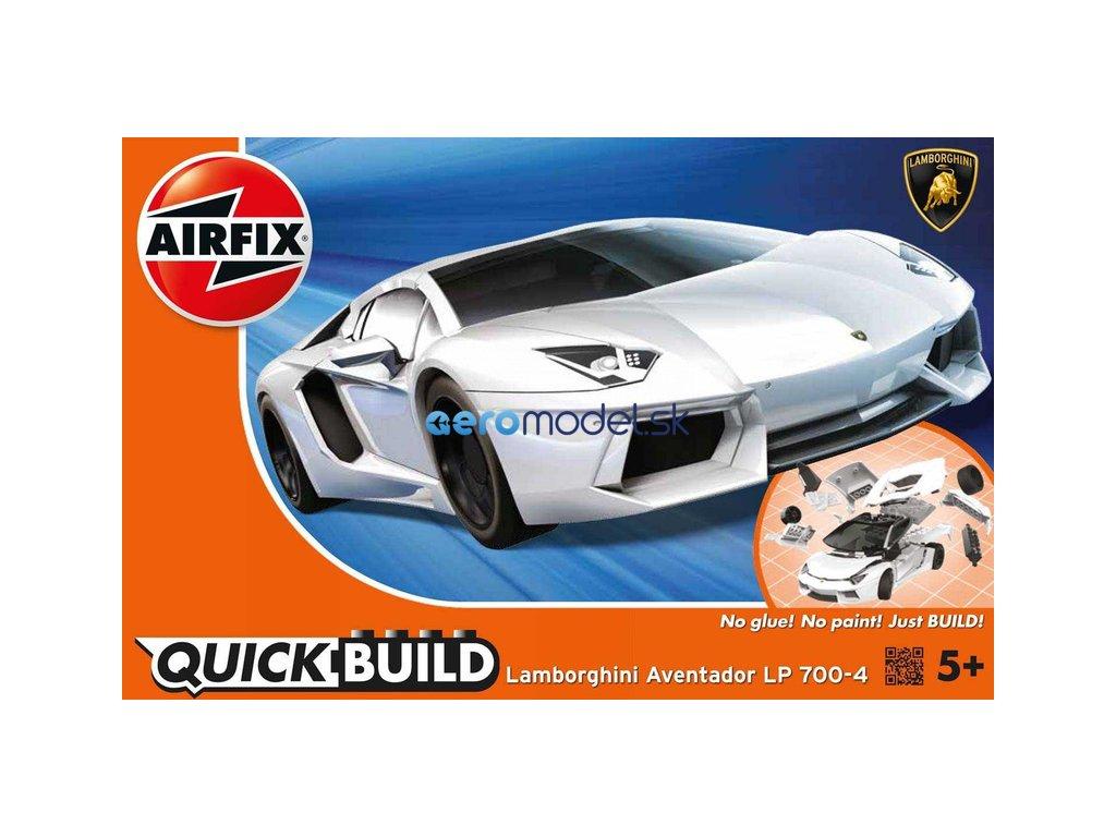 Airfix Quick Build Lamborghini Aventador - bílá AF-J6019