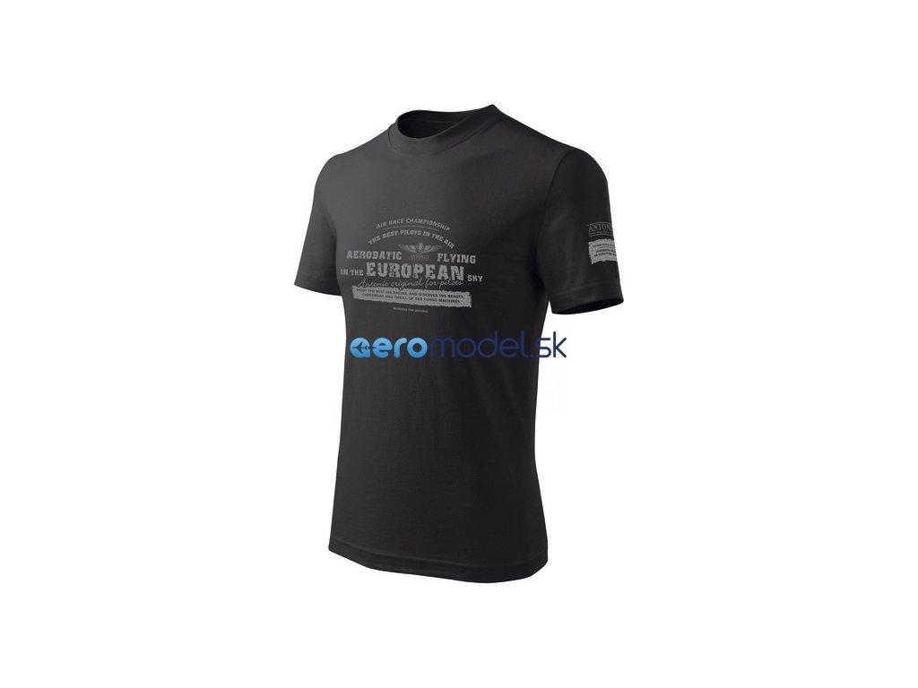 Antonio pánské tričko Aerobatica černé ANT0110800116