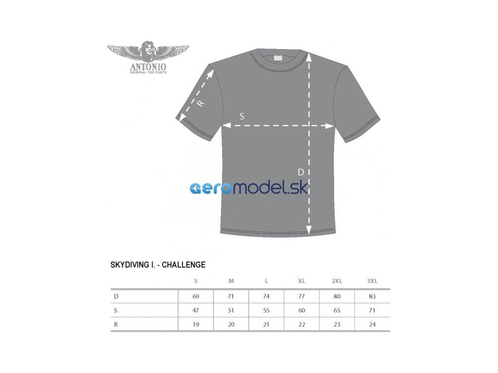 Antonio pánské tričko Skydiving Challenge ANT0111112815