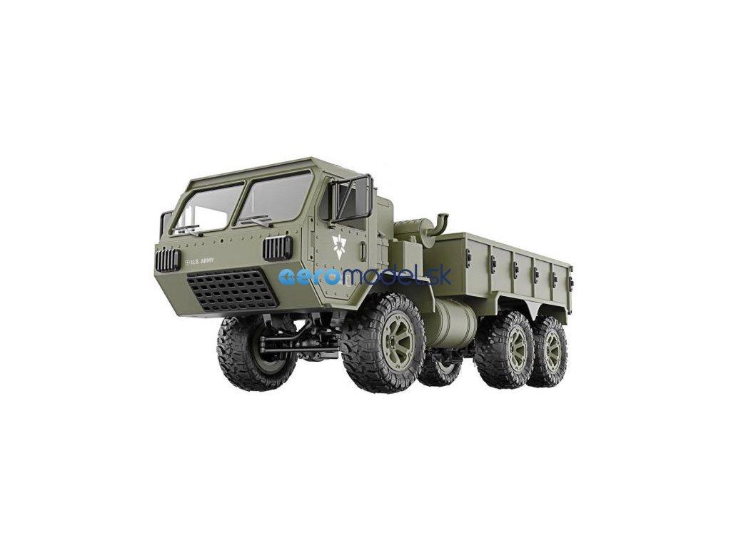 Vojenský nákladný automobil P801 1:16, 6x6, 2,4 GHz, RTR - zelený