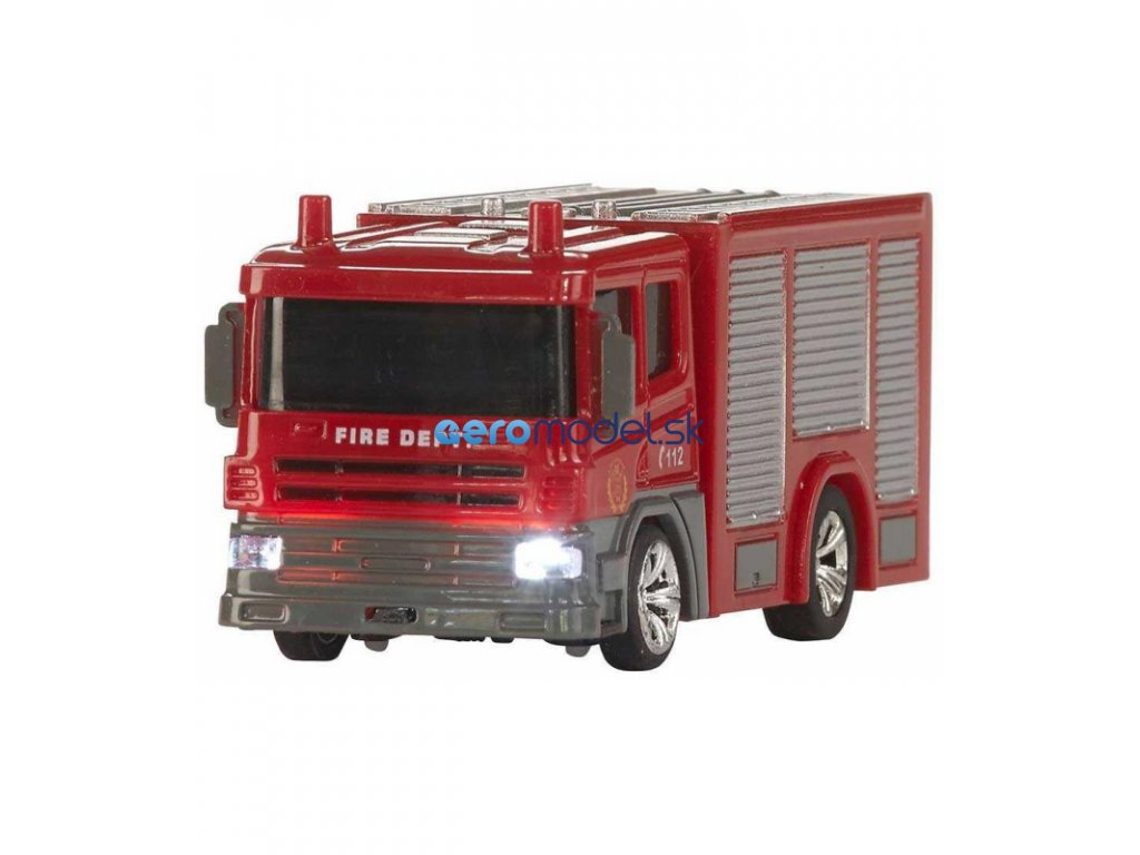 Mini hasičské auto na vysielačku