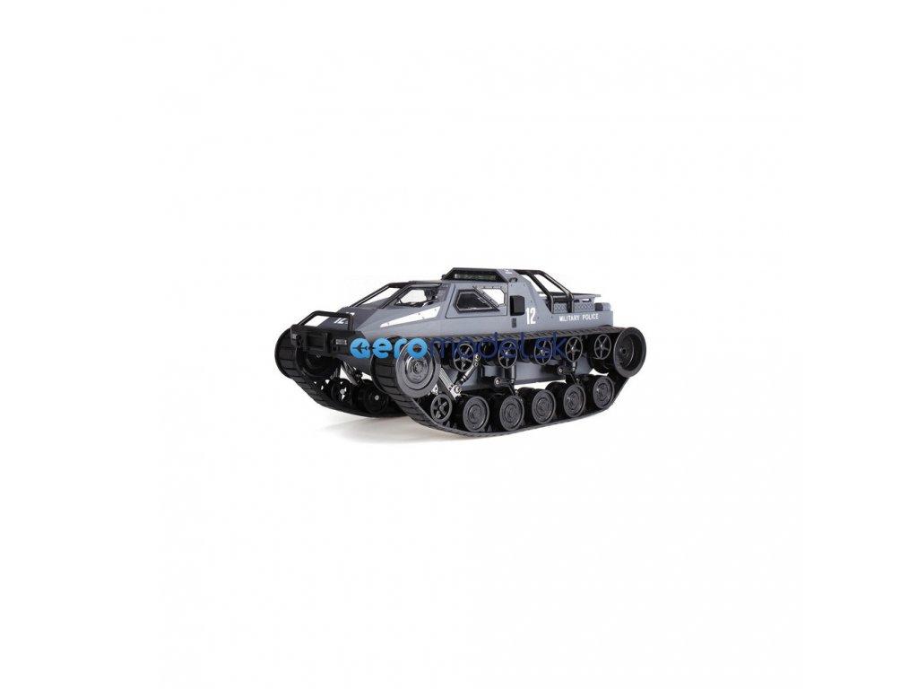 RC MILITARY POLICE pásové vozidlo 1:12, 2,4 GHz, RTR, šedá