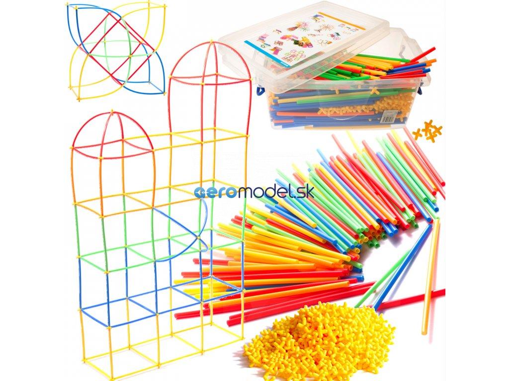 Slamková stavebnica pre deti - BOX 680